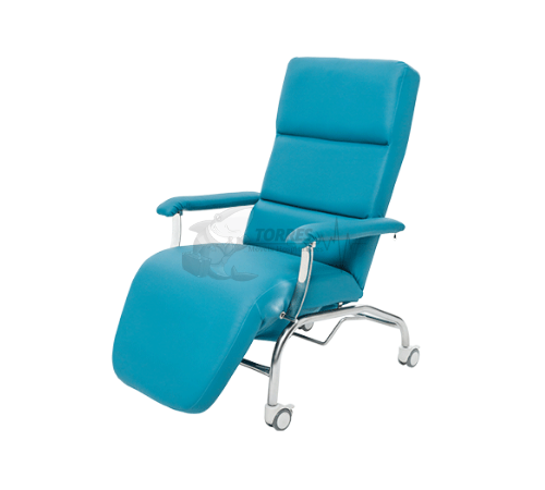 Poltrona hospitalar de descanso reclinável com rodízios
