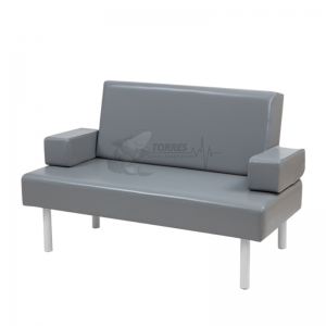 Sofá cama com braços eleváveis