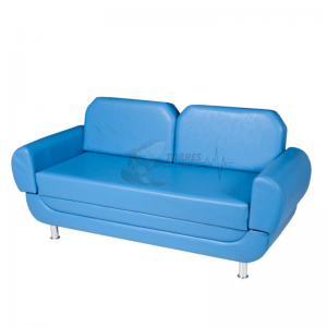Sofá cama com braços deslizantes e almofadas removíveis