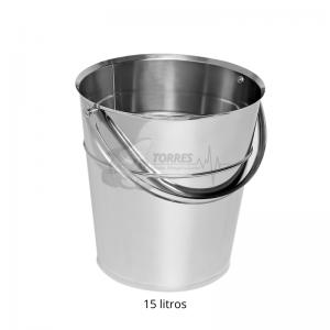 balde em inox 15 litros