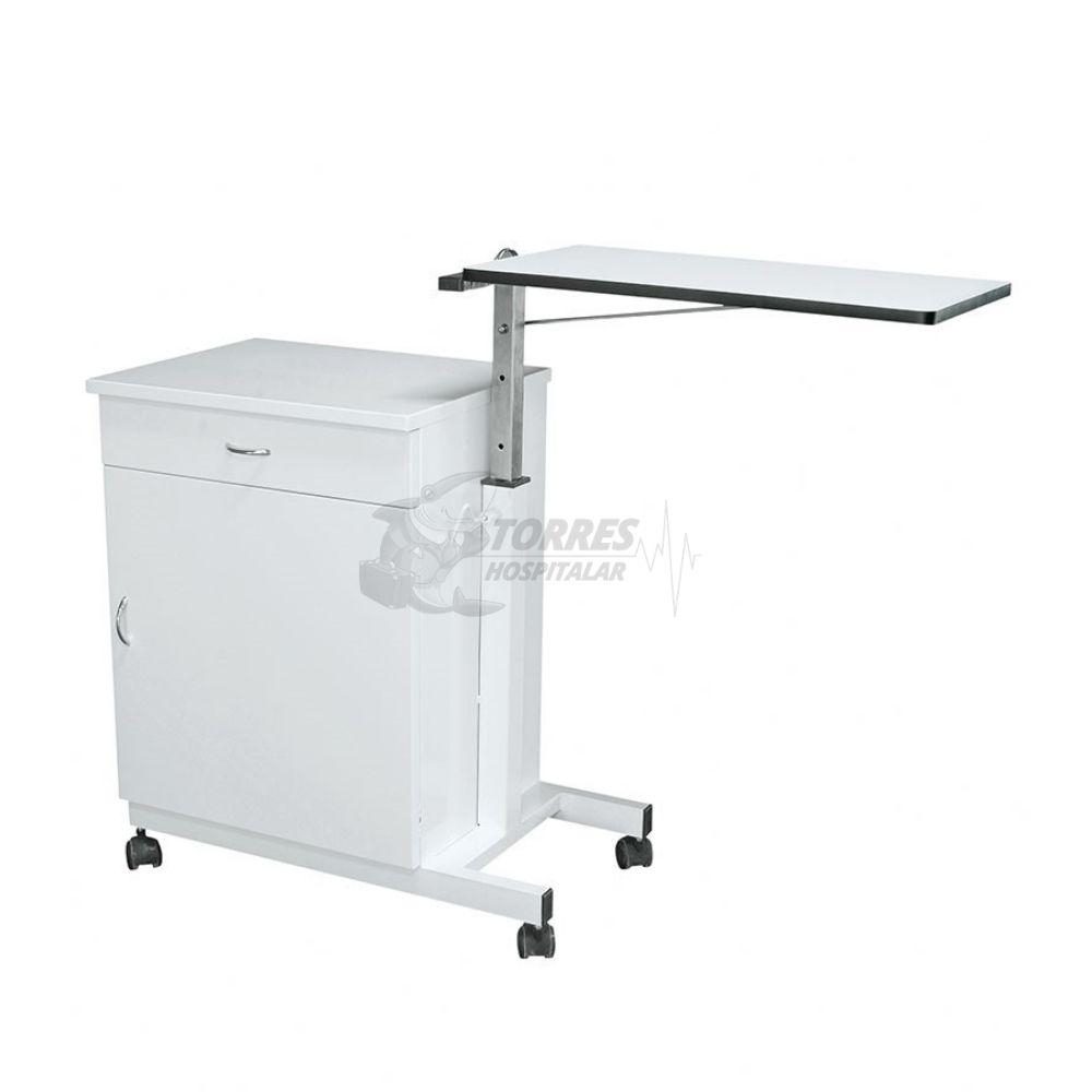 Mesa de cabeceira e refeição hospitalar