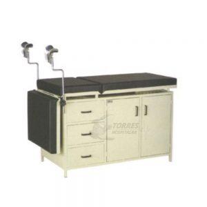 Mesa para exame ginecológico gabinete em aço
