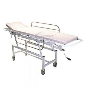 Carro maca hospitalar com regulagem por manivela